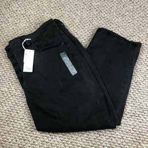 Lane Bryant Black Crop Pants Size 24